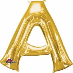 Balon Folie Litera A Auriu - 41cm, Amscan 33012