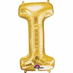 Balon Folie Litera I Auriu - 41 cm, Amscan 33029
