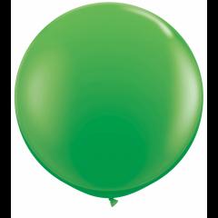 Baloane latex Jumbo 3 ft Spring Green, Qualatex 45715, set 2 buc