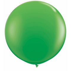 Baloane latex Jumbo 3 ft Spring Green, Qualatex 45715, set 2 buc