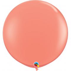 Balon latex Jumbo 3ft Coral, Qualatex 15883, 1 bucata