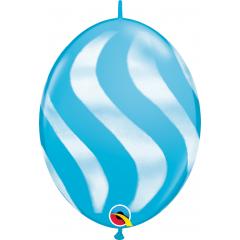 Balon Cony Wavy Stripes 12 inch (30 cm), Qualatex 28092