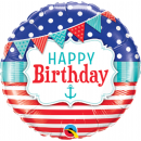 Balon Folie 45 cm Happy Birthday, Qualatex 49178