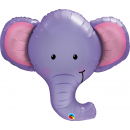Balon Folie Figurina - 100 cm, Ellie Elefant, Qualatex 16136