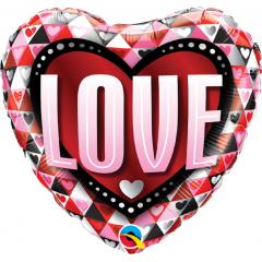 alon Folie 45 cm Love Triangles, Qualatex 46073