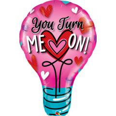 Balon Folie Figurina You Turn Me On - 100 cm, Qualatex 46052