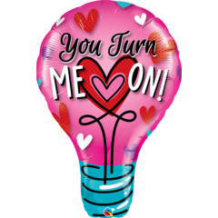 Balon Folie Figurina You Turn Me On - 100 cm, Qualatex 46052