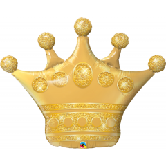 Balon Folie Figurina Golden Crown - 104 cm, Qualatex 49343