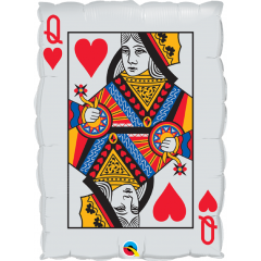 Balon Folie Card Queen Of Hearts - 76 cm, Qualatex 16310