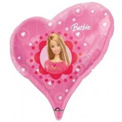 Balon folie figurina inima Barbie - 61x51cm, Amscan 13343