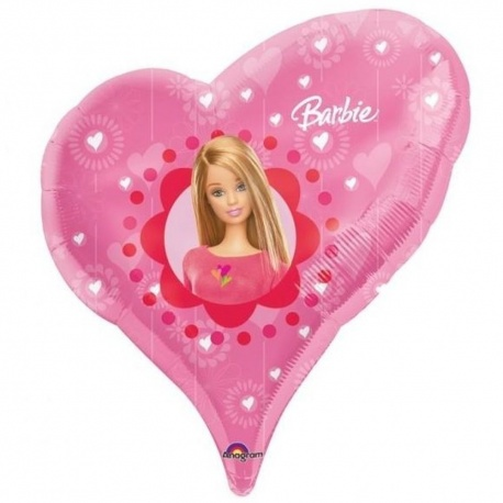 Balon Folie Figurina Inima Barbie, 61x51 cm, 13343