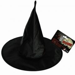 Palarie neagra de vrajitoare pentru petrecere Halloween, OOTB 63/2634, 1 buc
