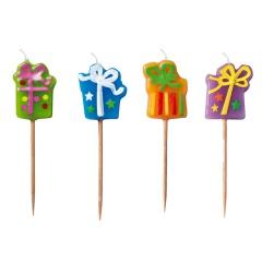 Lumanari aniversare pentru tort figurine cadou, Radar 51114, set 4 bucati