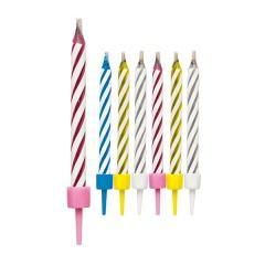 Lumanari pentru tort magice cu suport - 8cm, Radar 51324, set 10 bucati