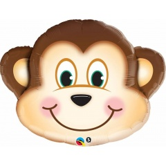 "Balloon Foil Mini Shape Mischievious Monkey, Qualatex, 9"", 41793"