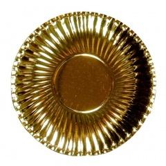 Farfurii petrecere carton aurii 23 cm, Radar 62152, Set 10 bucati