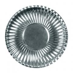 Farfurii petrecere carton argintiu 23 cm, Radar 62156, Set 10 bucati