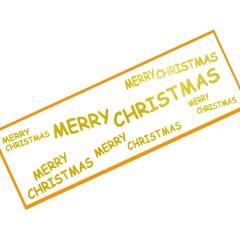 Sticker pentru geam Merry Christmas - 64 X 21.5 CM, Radar 45310