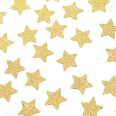 Confetii forma stelute aurii cu sclipici 3 cm- 14 gr, Radar 45515