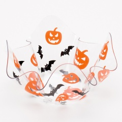 Bol transparent decorativ pentru Halloween - 13 x 13 cm, Radar 60794