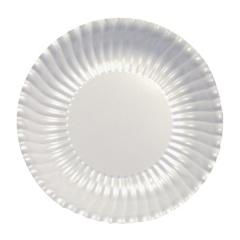 Farfurii petrecere carton alb perlat - 23 cm, Radar 62562, set 10 bucati