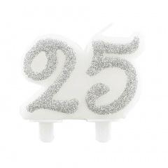 Lumanare aniversare pentru tort numarul 25, Radar 51165