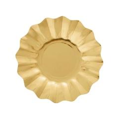 Farfurii petrecere carton aurii - 21 cm, Radar 63471, set 8 bucati