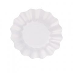 Farfurii petrecere carton alb perlat - 23 cm, Radar 63481, set 8 bucati