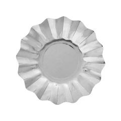 Farfurii petrecere carton argintii- 21 cm, Radar 63474, set 8 bucati
