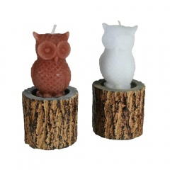 Owl on tree trunk Candle,12 x 5.5 cm, Radar 949014