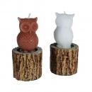 Owl on tree trunk Candle,12 x 5.5 cm, Radar 949014