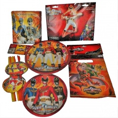 Pachet party Power Rangers, Radar Rangers, set 51 piese