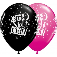 "Baloane latex 11""/28cm inscriptionate Girls Night Out, Qualatex 36986"