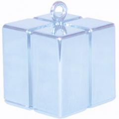 Greutate pentru baloane forma cadou - bleu, Qualatex 14391