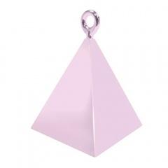 Greutate pentru baloane forma piramida - roz, 110 g, Qualatex 14401