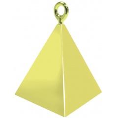 Greutate pentru baloane forma piramida - auriu, Qualatex 14407