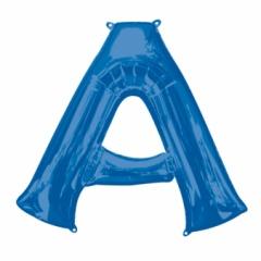 Balon Folie Mare Litera A Albastru - 93 x 86cm, Amscan 35401