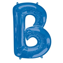 Balon Folie Mare Litera B Albastru - 58 x 86 cm, Amscan 35403