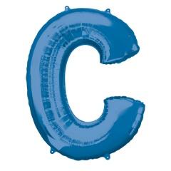 Balon Folie Mare Litera C Albastru - 63 x 81 cm, Amscan 35405