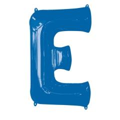 Balon Folie Mare Litera E Albastru - 53 x 81 cm, Amscan 35409