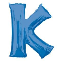 Balon Folie Mare Litera K Albastru - 66 x 83 cm, Amscan 35421