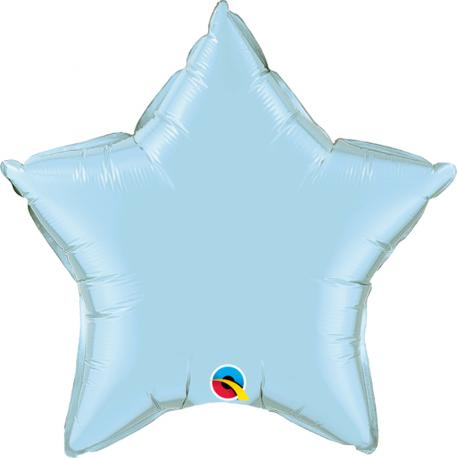 Balon folie pastel blue metalizat cu forma de stea - 45 cm, Northstar Balloons 00375, 1 buc