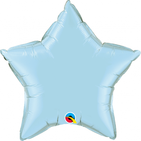 "Metallic Pastel Blue Star Foil Balloon - 18""/45cm, Northstar Balloons 00375, 1 piece"