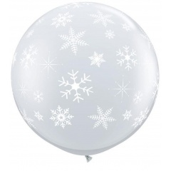 Balon Jumbo 3 FT Diamond Clear Fulgi de Nea, Qualatex 33533