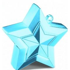 Greutate Stea Light Blue pentru Baloane cu Heliu, 150 g, Qualatex 38801