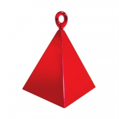 Greutate pentru baloane forma piramida - rosu, Qualatex 14417