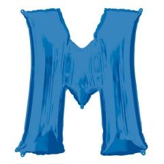 Balon Folie Mare Litera M Albastru - 81 x 83 cm, Amscan 35423
