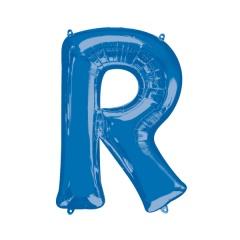 Balon Folie Mare Litera R Albastru - 58 x 81 cm, Amscan 35435