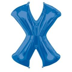 Balon Folie Mare Litera X Albastru - 68 x 88 cm, Amscan 35447
