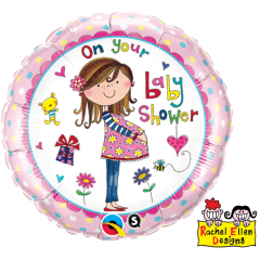Folie 45 cm, On your baby shower, Qualatex 14970